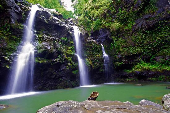 Waikamoi Falls On The Road To Hana-George Oze-Photographic Print