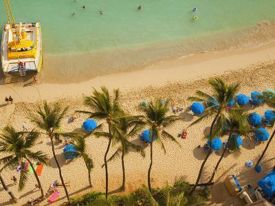 Waikiki Beach, Honolulu, Oahu, Hawaii, Usa-Douglas Peebles-Photographic Print