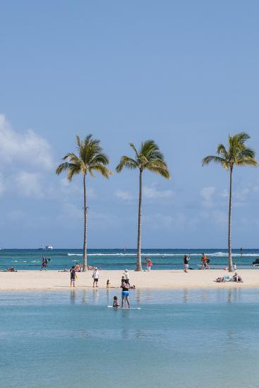 Waikiki Beach, Waikiki, Honolulu, Oahu, Hawaii, United States of America, Pacific-Michael DeFreitas-Photographic Print