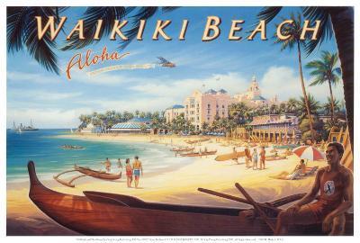 Waikiki Beach-Kerne Erickson-Art Print