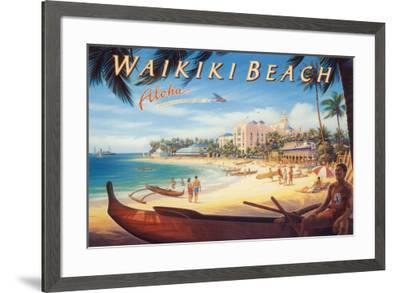 Waikiki Beach-Kerne Erickson-Framed Art Print