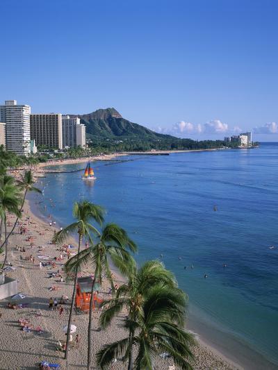 Waikiki, Oahu, Hawaii, USA-Douglas Peebles-Photographic Print