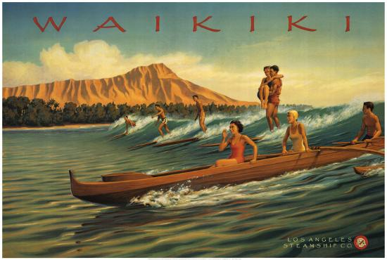Waikiki-Kerne Erickson-Art Print