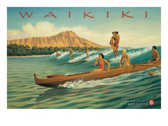 Waikiki-Kerne Erickson-Premium Giclee Print
