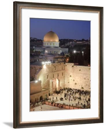 Wailing Wall, Western Wall and Dome of the Rock Mosque, Jerusalem, Israel-Michele Falzone-Framed Photographic Print