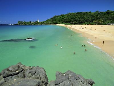Waimea Bay Beach Park, a Popular Surfing Spot on Oahu's North Shore, Oahu, Hawaii, USA-Robert Francis-Photographic Print