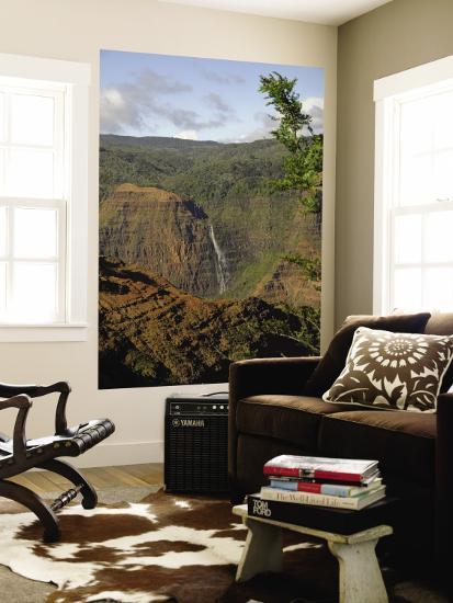 Waimea Canyon Waterfall-Linda Ching-Wall Mural
