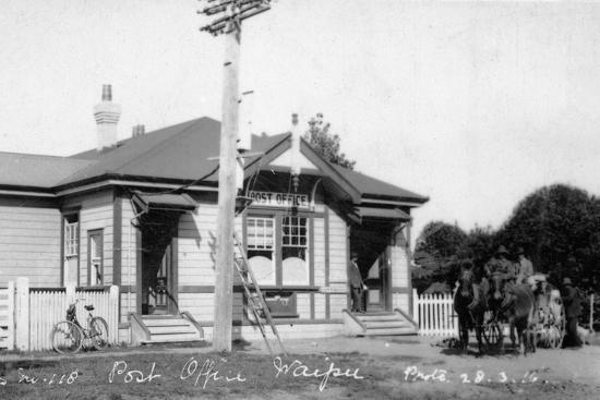 Waipu Post Office, 1910--Photographic Print