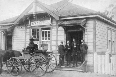 Waipu Post Office and Staff, 1916--Photographic Print