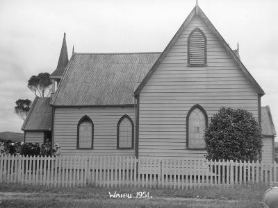 Waipu Presbyterian Church, 1951--Photographic Print