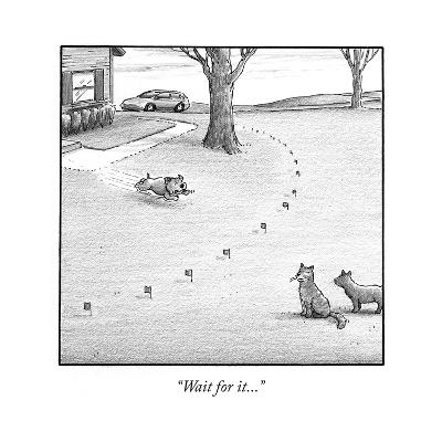 """Wait for it..."" - Cartoon-Harry Bliss-Premium Giclee Print"