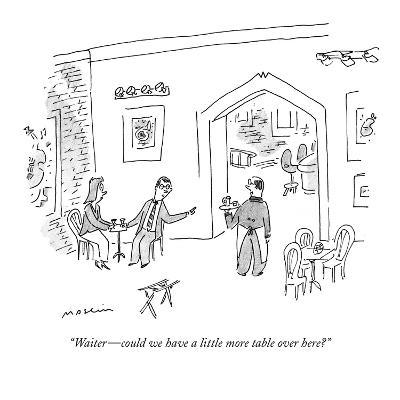 """""""Waiter?could we have a little more table over here?"""" - New Yorker Cartoon-Michael Maslin-Premium Giclee Print"""