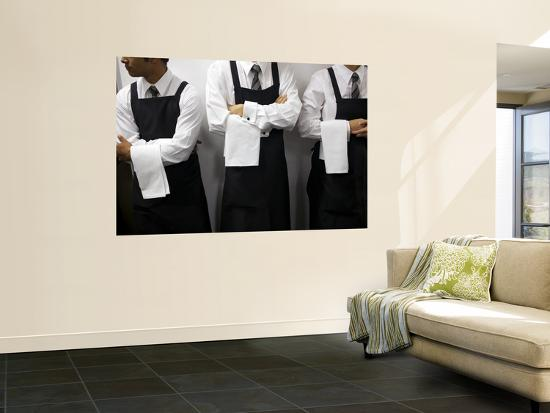 Waiters Ready for Service-Oliver Strewe-Wall Mural
