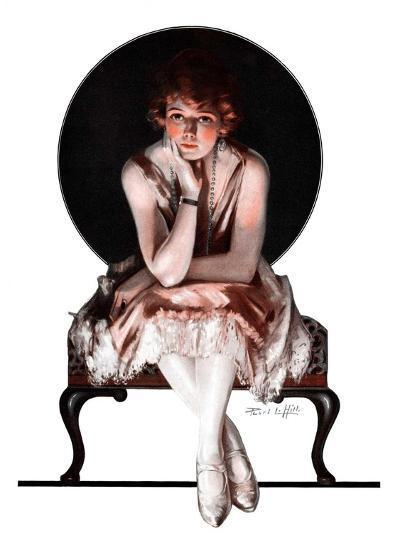 """Waiting,""April 14, 1923-Pearl L^ Hill-Giclee Print"