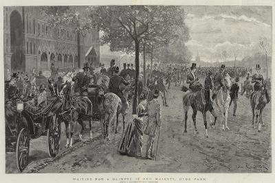 Waiting for a Glimpse of Her Majesty, Hyde Park-John Charlton-Giclee Print