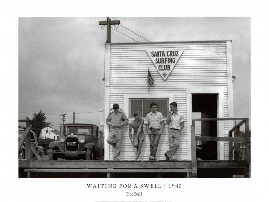 Waiting for a Swell, 1940-Doc Ball-Art Print