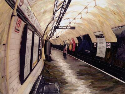 Waiting for a Train Going South, 1998-Ellen Golla-Giclee Print