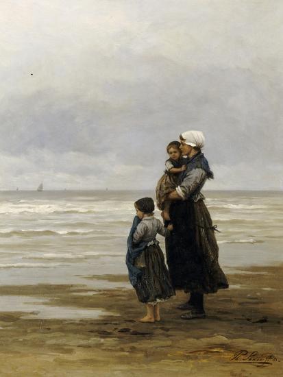 Waiting for the Boats, 1881-Philippe Lodowyck Jacob Frederik Sadee-Giclee Print