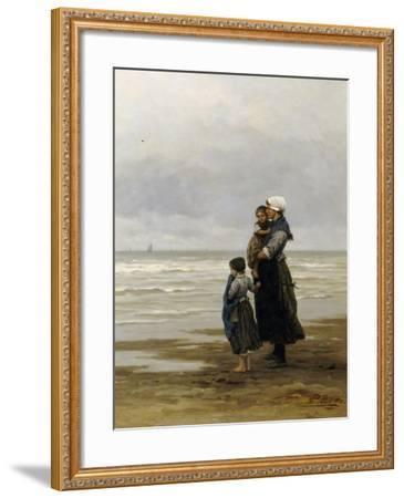Waiting for the Boats, 1881-Philippe Lodowyck Jacob Frederik Sadee-Framed Giclee Print