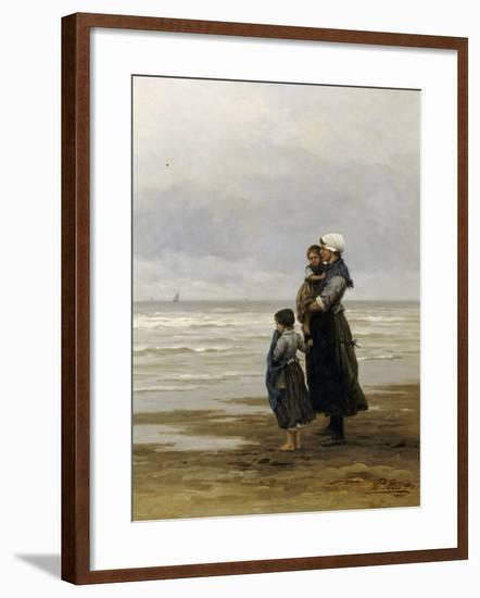 Waiting for the Boats, 1881-Philippe Lodowyck Jacob Frederik Sadee-Framed Giclee Print