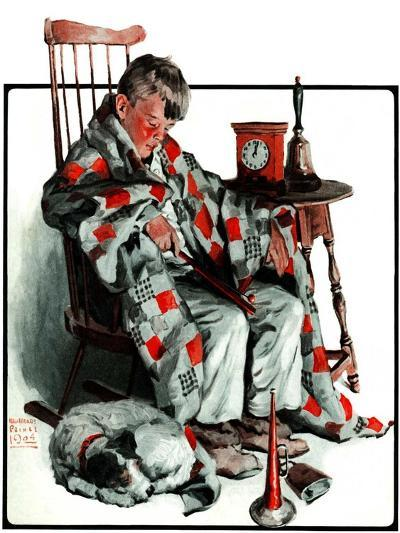 """""""Waiting for the New Year,""""January 3, 1925-William Meade Prince-Giclee Print"""
