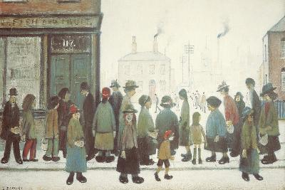 Waiting For The Shops To Open-Laurence Stephen Lowry-Giclee Print