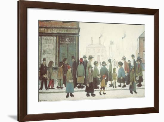 Waiting For The Shops To Open-Laurence Stephen Lowry-Framed Giclee Print