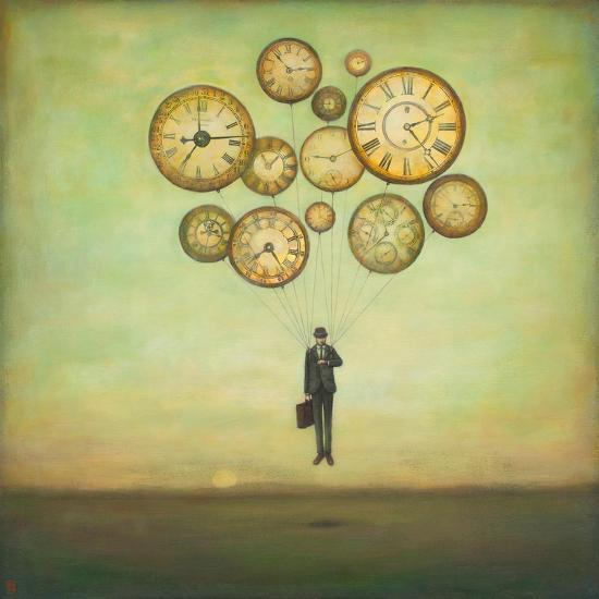 Waiting for Time to Fly-Duy Huynh-Premium Giclee Print
