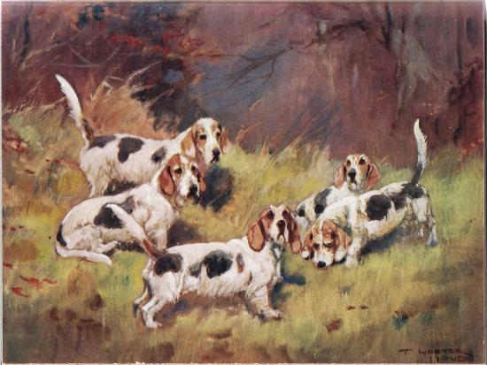 Waiting, Illustration from 'Hounds'-Thomas Ivester Lloyd-Giclee Print