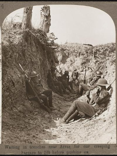 Waiting in Trenches WWI--Photographic Print