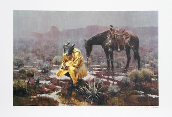 Waiting It Out-James Reynolds-Collectable Print