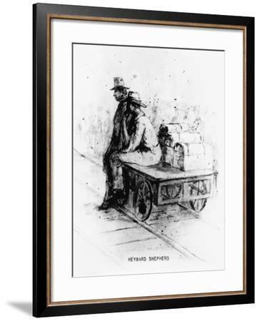 Waiting on the Train-Heyward Shepherd-Framed Giclee Print