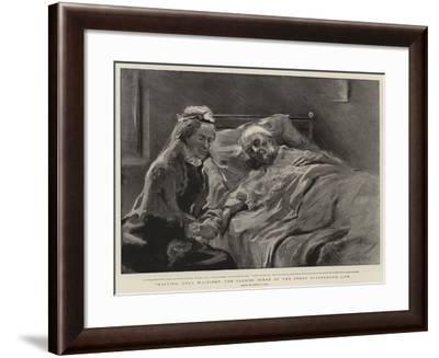 Waiting, Only Waiting!, the Closing Scene of the Great Statesman's Life-Sydney Prior Hall-Framed Giclee Print