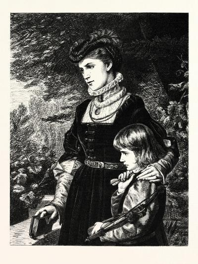 Waiting the Knight's Return--Giclee Print