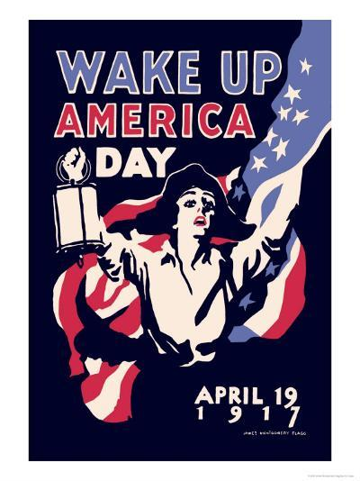 Wake Up America Day-James Montgomery Flagg-Art Print