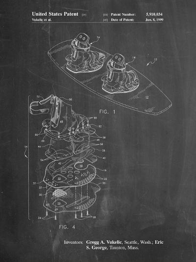 Wakeboard Patent-Cole Borders-Art Print
