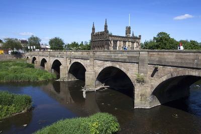 Wakefield Bridge and the Chantry Chapel-Mark Sunderland-Photographic Print