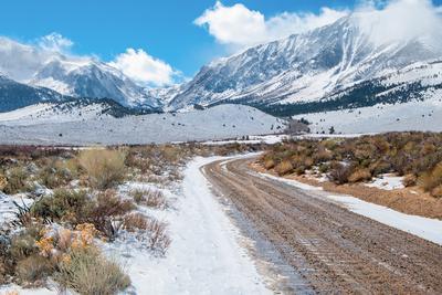 Desert Mountain Road in Winter