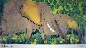 Elephants by Walasse Ting
