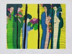 Femmes au bouquet by Walasse Ting
