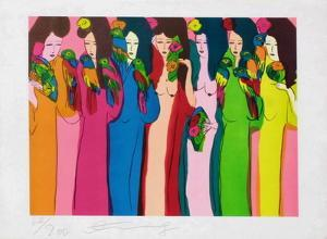 Femmes aux perroquets by Walasse Ting