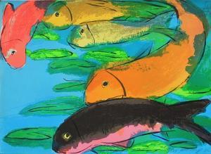 Fish by Walasse Ting