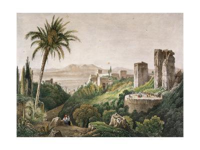 Walk and Towers of the Alhambra. Litography. 19th Century--Giclee Print