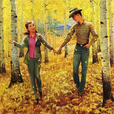 """Walk in the Forest"", October 18, 1952-John Clymer-Giclee Print"