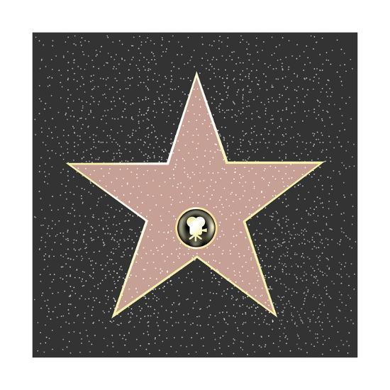 Walk Of Fame Type Star-barbaliss-Art Print
