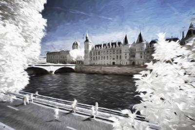 Walk on the banks of the Seine - In the Style of Oil Painting-Philippe Hugonnard-Giclee Print