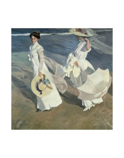 Walk on the Beach-Joaqu?n Sorolla y Bastida-Art Print