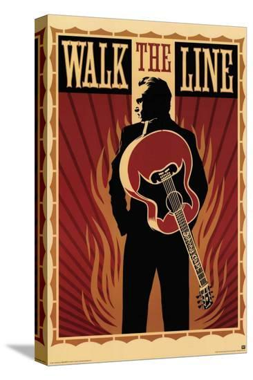 Walk the Line--Stretched Canvas Print