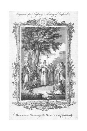 'Berinus Converting the Saxons to Christianity.', (c1774)