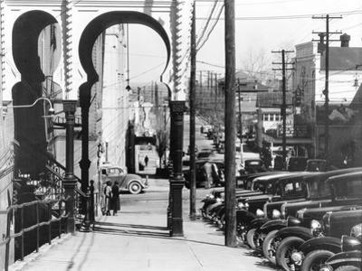 A street in Vicksburg, Mississippi, 1936